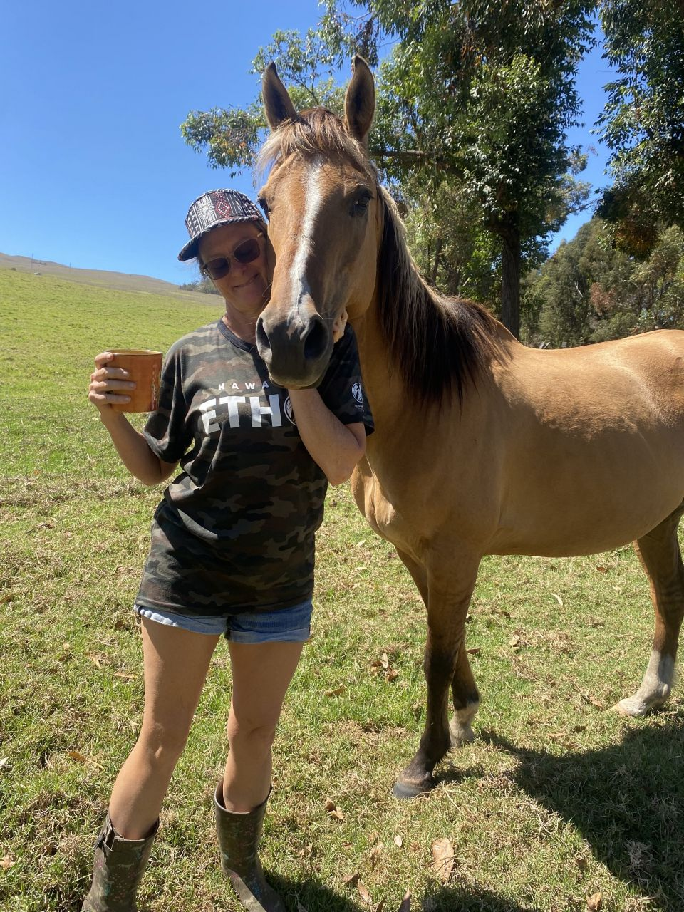 Payaso and I enjoying our morning coffee