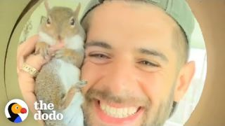 Guy Tried To Release His Rescue Squirrel But She Always Came Back | The Dodo